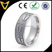 Walmart Jewelry Supplier Engagement Ring Titanium Mens Wedding Bands, Titanium Deer Track Ring, Flat Profile, 8MM Comfort Fit