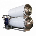 large food sterilizing autoclave machine with boiler steam
