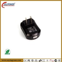 USA type for LED driver 5V1A USB power adapter with global approval UL FCC GS CE SAA etc