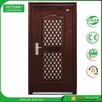 Wrought Iron and Glass Door Parts Iron Security Door ECO Friendly High Quality