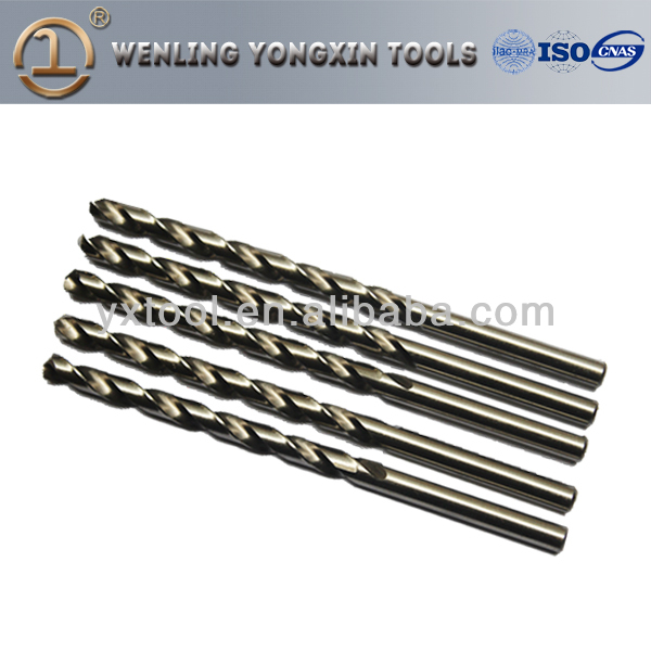 High quality HSS Cobalt 5%, Straight Shank Twist drill M35, parallel shank drilling tools