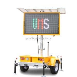 Outdoor Mobile Variable Message Board Solar Powered Portable 5 Colour LED VMS Sign