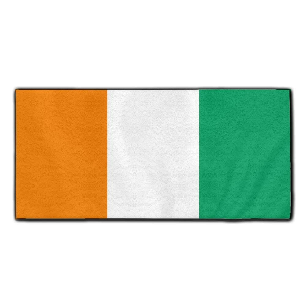 ChunLei Flag Of Ivory Coast Washcloths Face Towel Hair Care Towel Gym And Spa Towel Kitchen Dish Towel