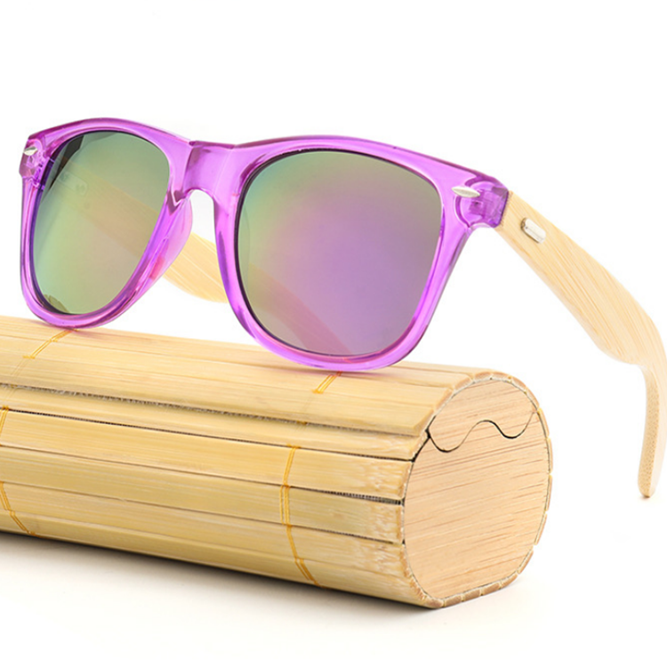 Personalized Custom Engraved Wood Sunglasses Purple Blue Black Green