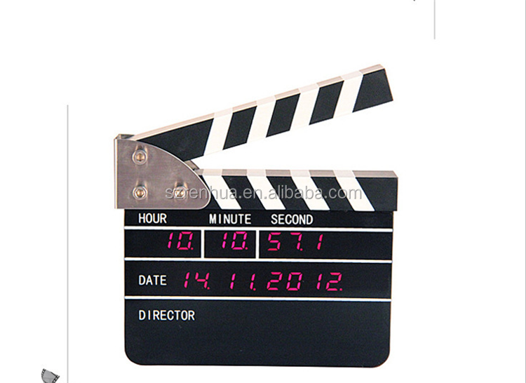 Movie Slate Clapper Director Action Board Led Digital
