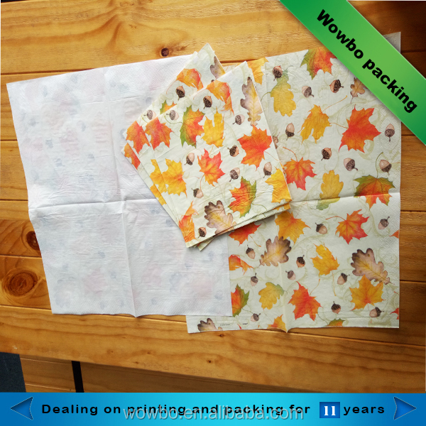 2018 new design custom printed personal sanitary napkin tissue paper