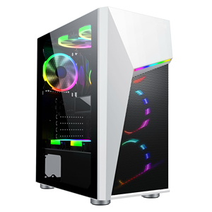 Y01 2019 Attractive 210mm width atx tower White  with RGB Strip Lights/custom Metal Mesh Mid Tower pc gamer gabinete