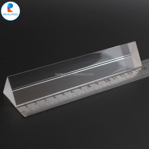 Factory offer optical glass triangular prism for school teaching