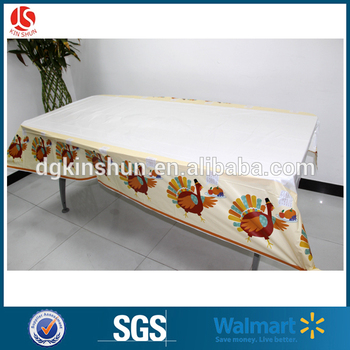 One Time Use Only Disposable Table Cover Plastic Thanksgiving Turkey  Tablecloth Pack