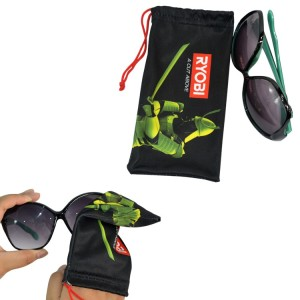 Full color printed microfiber sunglasses pouch