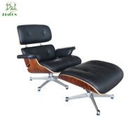 Classic Home office furniture lounge chair and ottoman for living room