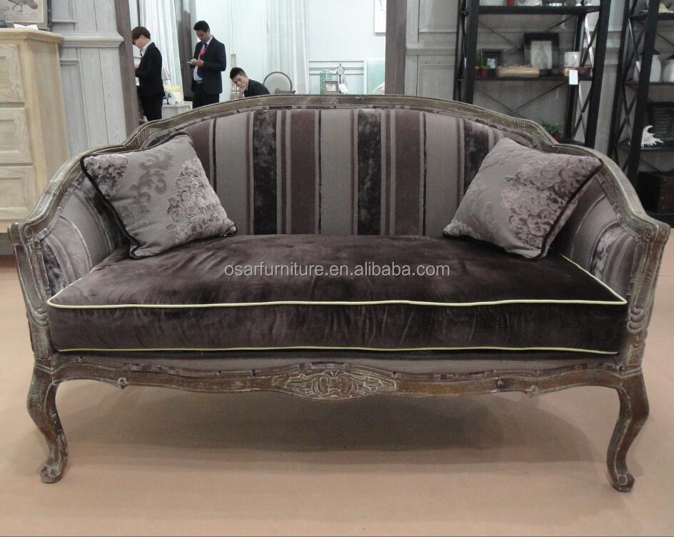Antique Dark Brown Velvet Upholstered