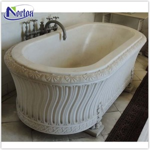 Classic freestanding natural stone bathtub for indoor used NTMBA-006Y