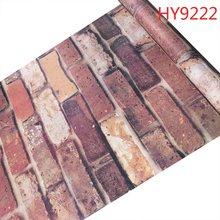 Кирпичные самоклеящиеся обои из ПВХ, наклейки на стену, 3d обои для украшения интерьера, 0,45 М * 10 м(Китай)