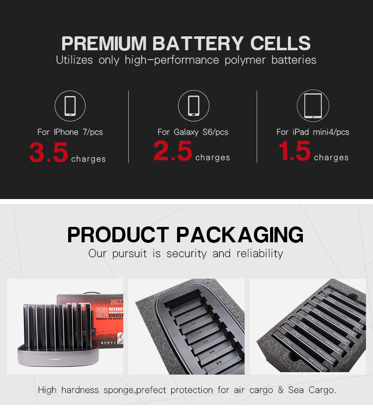 500 times cycle life Li-polymer battery library cellphone charging station commercial