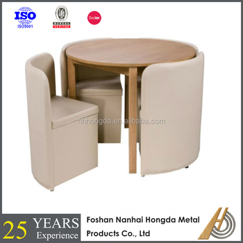 Round Wooden Dinner Table With 4 Chairs Dining Chair Tables Product On Alibaba