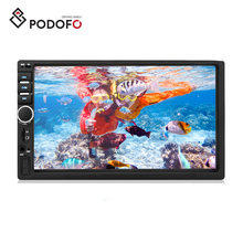 "Podofo Auto Radio Autoradio 7 ""2 Din LCD Touch Screen Multimedia Player Supporto Specchio-Link Macchina Fotografica di Retrovisione auto DVR"