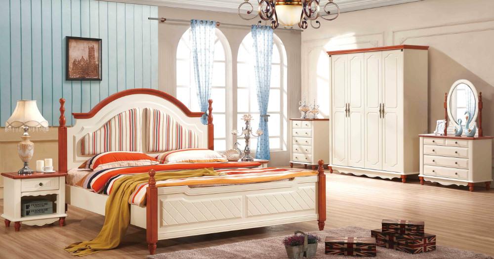 (1 Bed +2 Bedside+dresser Mirror+mattress) White Packaging