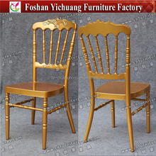 YC-A197 Gorgeous Gold Rental Napoleon Chair / Antique Stackable Napoleon Event And Wedding Chair