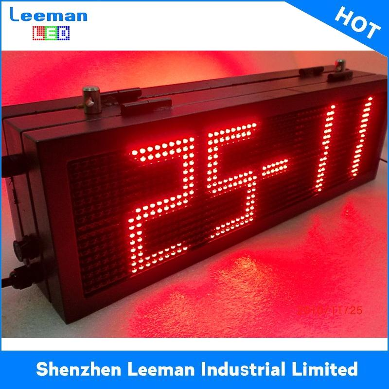 wall mounted clock/time clock semi-outdoor p7.62 led emotion sign for car
