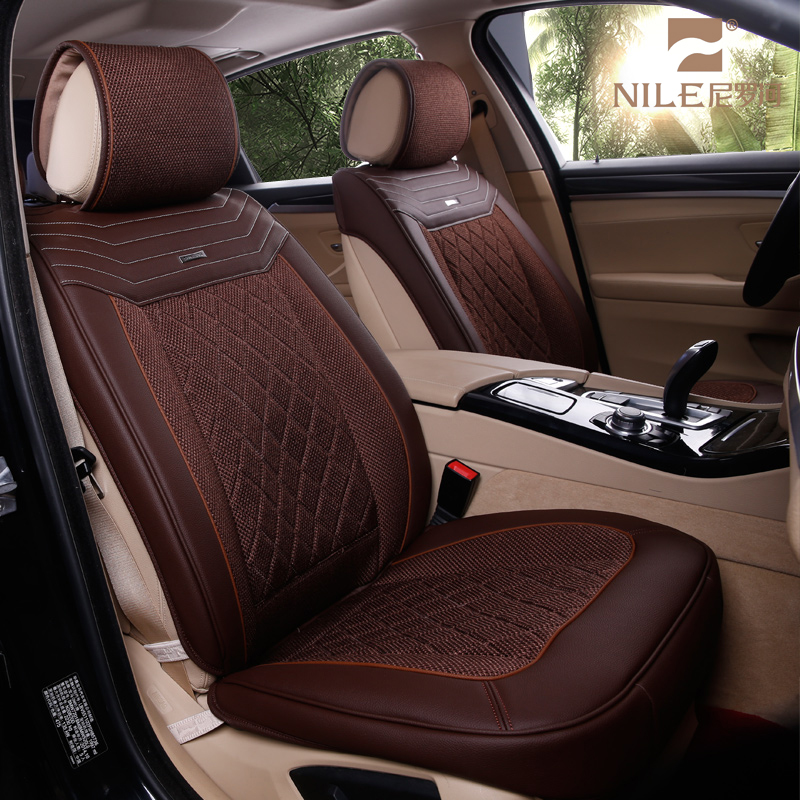 Dubai Wellfit Popular Purple Brown Beige Red Coffee Pu Leather Car Seat Cover