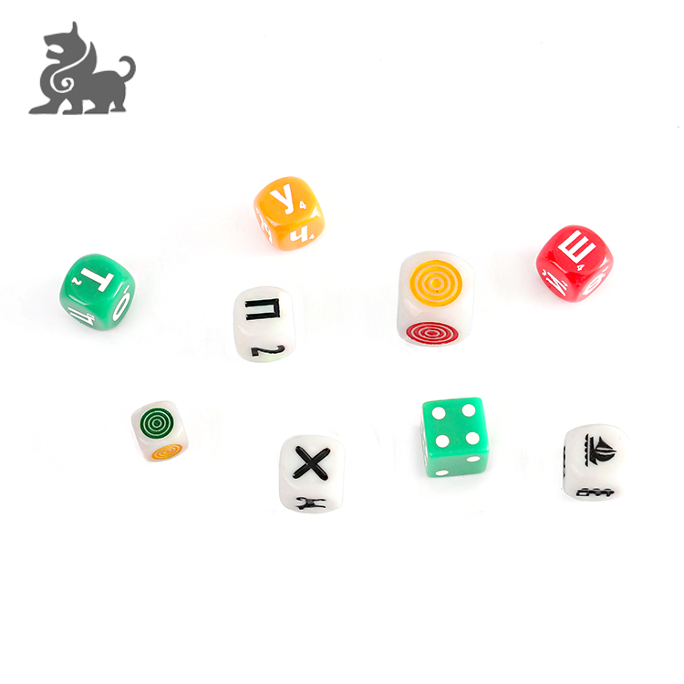 25mm plastic custom game dice China factory wholesale фото