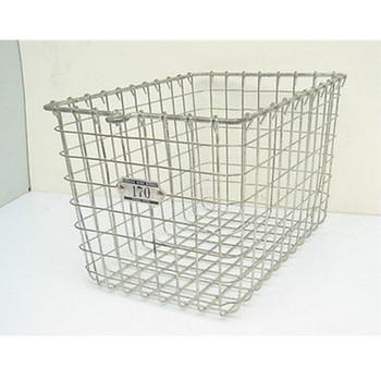 Vintage Kaspar Wire Works Gym Locker Basket White Mini Metal