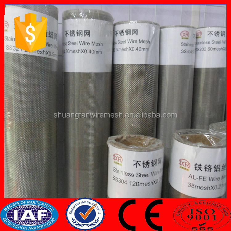 Alibaba hot sale 240 micron filter mesh / wire mesh light cover / micron stainless steel mesh screen (Made in China )