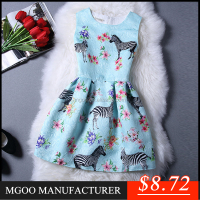 MGOO Brand Design Fashion OEM Women Jacquard Dresses Digital Printed Casual Dress House Image Pouf Dress