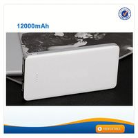AWC803 High capacity ABS+UV power bank battery 12000mah dual usb wholesale cell phone charger
