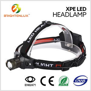 3 Mode Light Adjustable Focus Zoom Aluminum Alloy ABS Plastic Waterproof Head Light Led