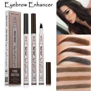 3 Colors Music Flower Brand Makeup Fine Sketch Liquid Eyebrow Pen Waterproof Tattoo Super Durable Eye Brow Pencil Smudge-proof