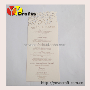Custominzed High End Beautiful Weddingbirthday Party Programmenu