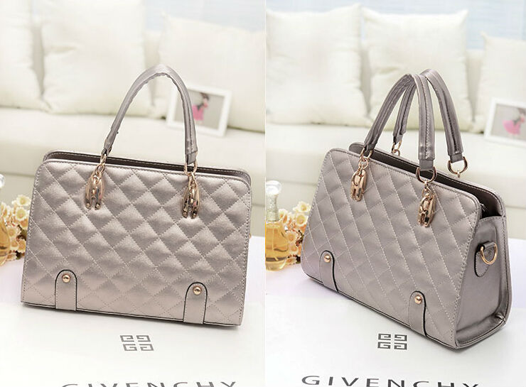 new style fashion latest ladies silver handbag