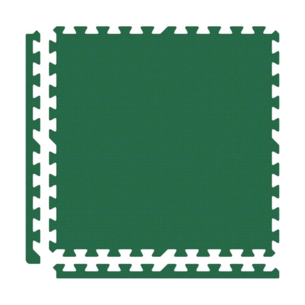 Alessco EVA Foam Rubber Interlocking Premium Soft Floors 20' x 20' Set Green