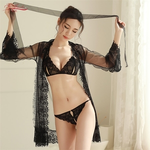 Lace nightwear transparent hot lingeries extreme
