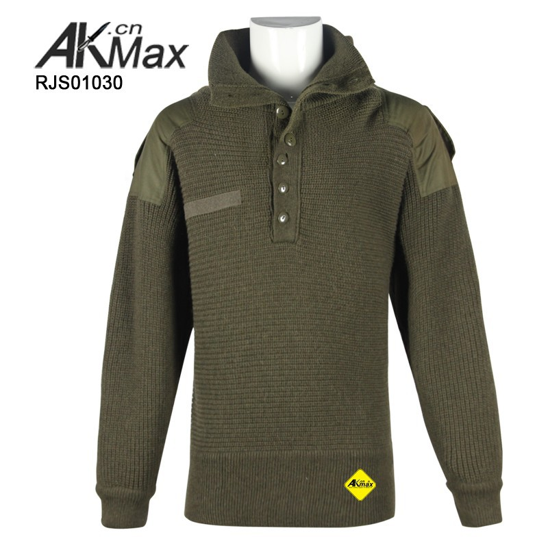 Olive Drab Heavy-duty Military Wool Sweater For Police - Buy ...