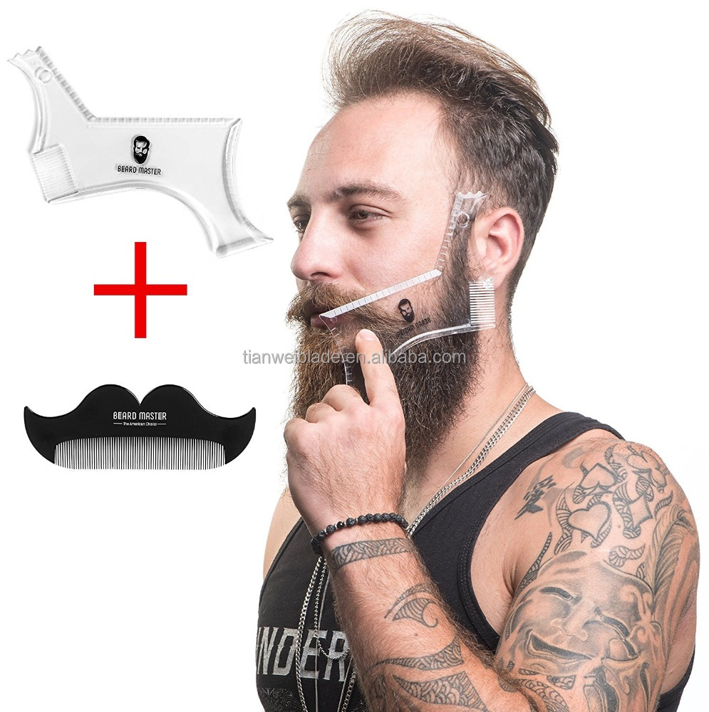 Beard Shaping Tool Elite Facial Hair Grooming, Shaving & Styling Accessory For Symmetry & Precision