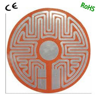 flexible silicone rubber heated mat for 3d printer with etched foil security seal