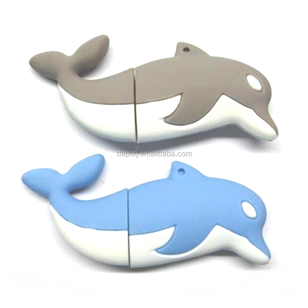 customized make dolphin shape usb pen drive 4gb usb memory stick hot selling usb stick