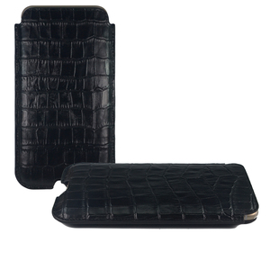 Croco Genuine Leather Case Sleeve Pouch for Mobile Phone