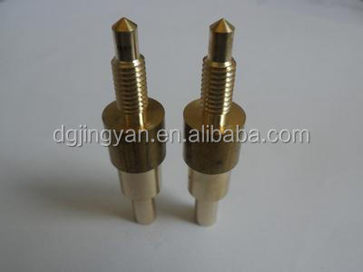 precise nonstandard cnc machining parts brass spindle pin