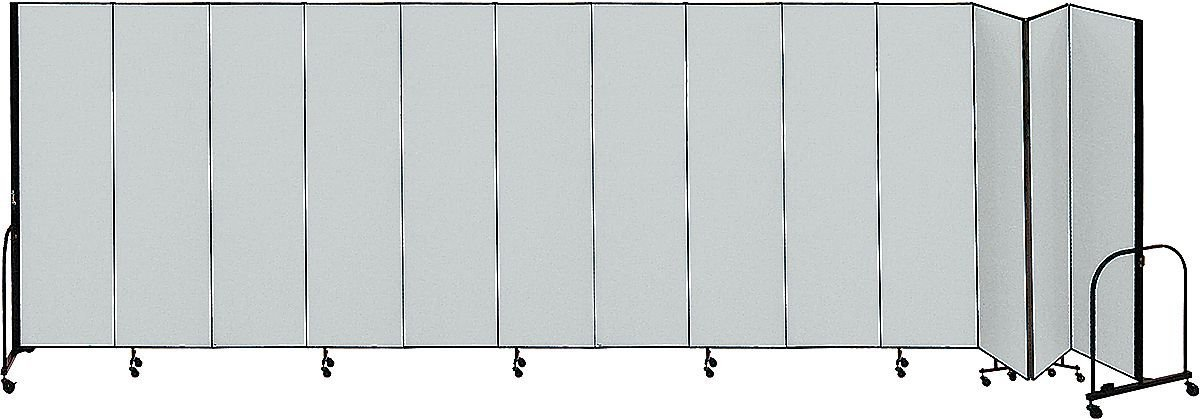 Screenflex - CFSL6813 GREY - Partition, 24 Ft 1 In W x6 Ft 8 In H, Gray