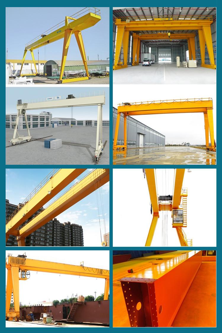 Double girder gantry crane manufacture for outdoor workshop