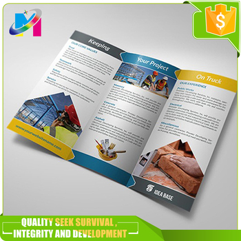 glossy tri folding brochure magazine flyer book printing services