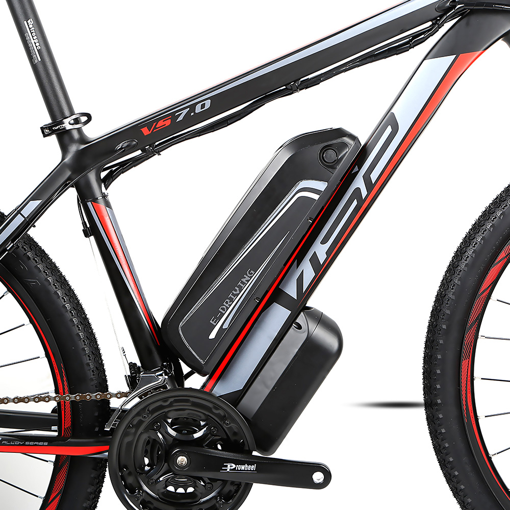 Rear Drive E-Motor 250W / 350W / 500W Ebike Battery 36v / 48V Electric Bike Bicycle for Adults, Blackred / blackgreen / blackblue