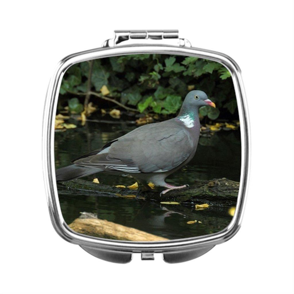 black T Dressing Mirror Bird Compact Makeup Mirror Pigeon Compact Mirror Gift Wood