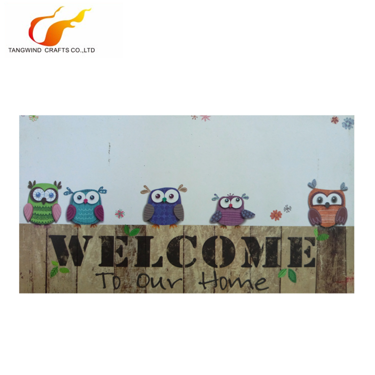 Best selling Welcome to our home wall hangtag welcome trays hotel MDF door sign without rope