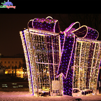 Christmas Led Outdoor Decor Light Up Gift Box