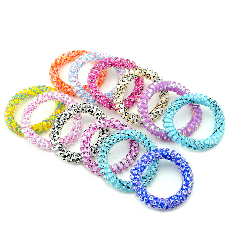 Hair Ties No Crease Elastic Ponytail Holders Phone Cord Traceless Hair Ring Suitable for All Hair Types